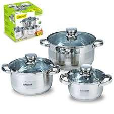 Набор посуды серебро Maestro 6 пр. (MR-2220-6L)