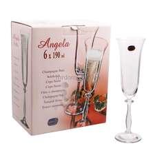 Бокалы для шампанского Bohemia Angela 190 мл. 6 шт. (40600/190)
