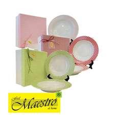 Набор суповых фарфоровых тарелок Maestro 212 мм., 6 шт. (MR 10009-03)