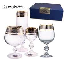 Набор Bohemia Claudia Платина 24 предмета (40149/43249/24)