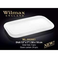 Блюдо прямоугольное с полями Wilmax 30х18 см. (992661)