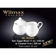Набор сахарница и молочник Wilmax (995024)