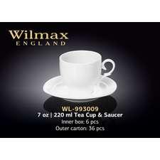 Чашка чайная с блюдцем Wilmax 220 мл. (993009)
