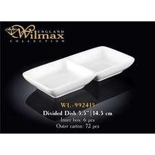 Менажница двойная Wilmax 14,5 см. (992415)