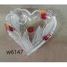 Салатник сердце WG Nadin Satin-Red-Gold 160 мм. (w6147)