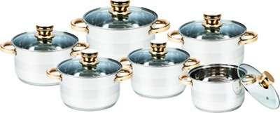 Набор посуды золотые ручки Maestro 12 пр. (MR-2206)