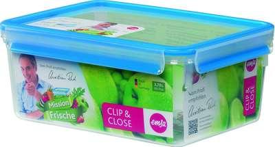 Прямоугольный пищевой контейнер Clip&Close 3D Emsa 3,7л. (EM508546)