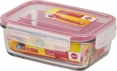 Прямоугольный стеклянный контейнер Clip&Close Emsa 1,3 л. (EM508105)