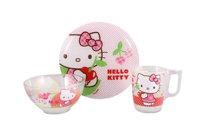 Набор детский Luminarc Disney Hello Kitty Cherries 3 предмета (J0768)