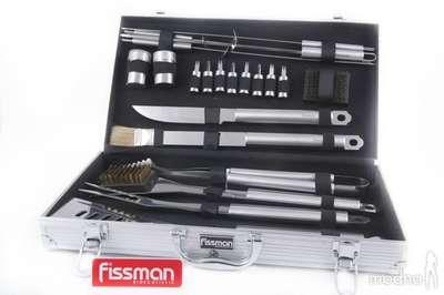 Набор инструментов для барбекю в чемодане из нержавеющей стали Fissman 21 предмет (BQ-1016.21)