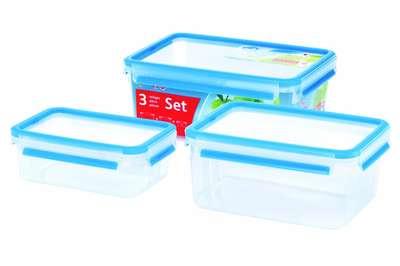Набор из 3х контейнеров Clip&Close 3D Emsa (EM508567) 68282