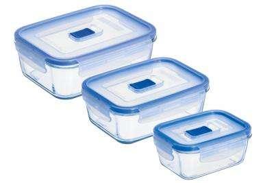 Набор контейнеров прямоугольных с крышкой Luminarc Empilable Transparent (H7686)