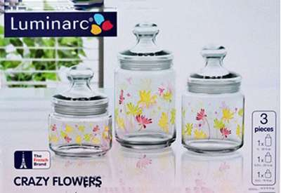 Набор банок Luminarc Aime Crazy Flowers Club (H9942) 66698