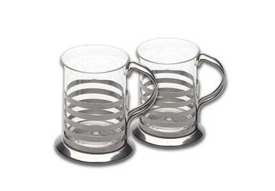 Набор из 2-х стеклянных чашек BergHOFF 0,2 л. (1106803)