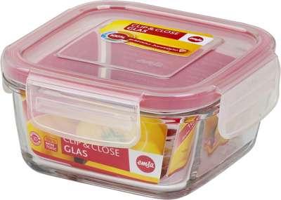 Квадратный стеклянный контейнер Clip&Close Emsa 1,25 л. (EM508101)