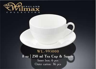 Чашка чайная с блюдем Wilmax 250 мл. (993000)
