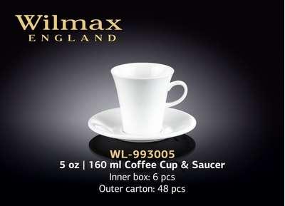 Чашка для кофе с блюдцем Wilmax 110 мл. (993005)