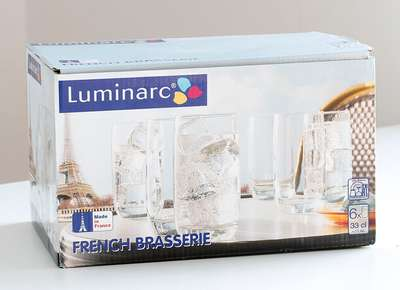 Набор стаканов высоких Luminarc ОСЗ French Brasserie 300 мл. (H9369/1) 61225