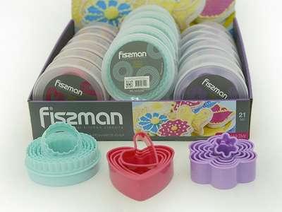 Набор из 5 формочек для вырезания печенья Fissman (PR-7419.BW)