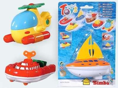 Мини-кораблик Simba, 13 см., 4 вида, 3+ (7294243)