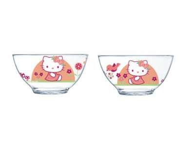 Салатник Luminarc Disney Hello Kitty Nordic Flower 13 см. (H9227)