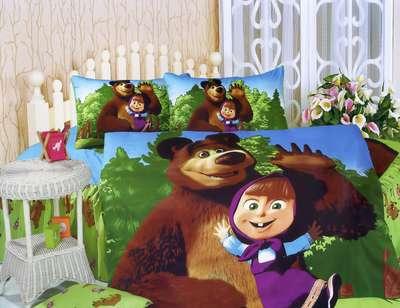 Детское постельное белье Маша и медведь (KI-062)