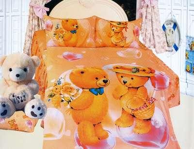 Детское постельное белье  Мишки love (KI-071)