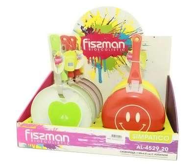 Сковорода с лопаткой Simpatico Fissman 24 см. (AL-4530.24) 55775