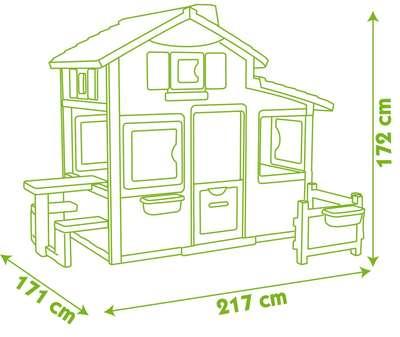 Дом для друзей c чердаком и дверным звонком Smoby (310209) 74239