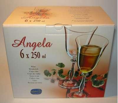 Бокалы для вина Bohemia Angela 250 мл. (40600/250) 60177