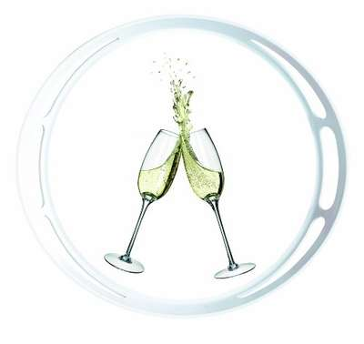 Круглый поднос Classic Champagne Emsa (EM509403)