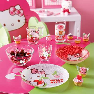 Тарелка десертная Luminarc Disney Hello Kitty Cherries 20 см. (J0023) 57873