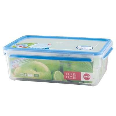 Прямоугольный пищевой контейнер Clip&Close 3D Emsa 5,5 л. (EM508547)