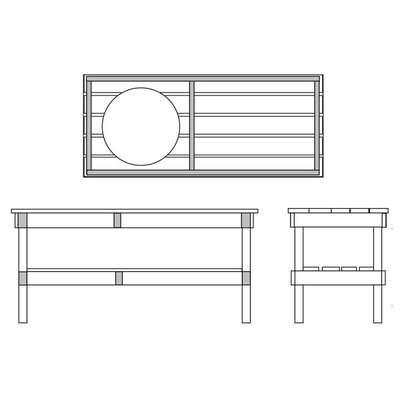 Длинный стол для гриля Big Green Egg XL (YXL4) 54512