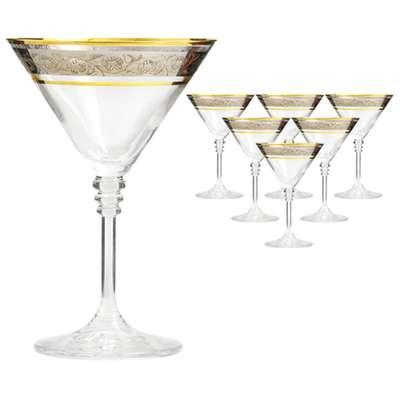 Бокалы для мартини Bohemia Olivia платина 210 мл.  (40346/43249/210) 58525