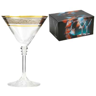 Бокалы для мартини Bohemia Olivia платина 210 мл.  (40346/43249/210) 58526