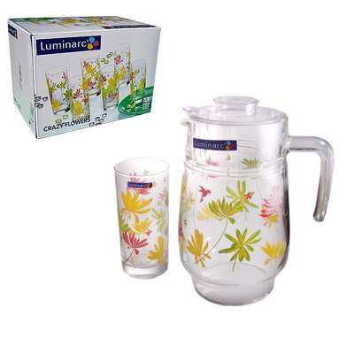 Набор для напитков Crazy Flowers Luminarc 7 пр. (G4621)