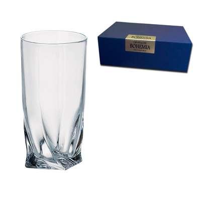 Набор стаканов для воды Bohemia Quadro 350 мл. (2K936-99A44-350)