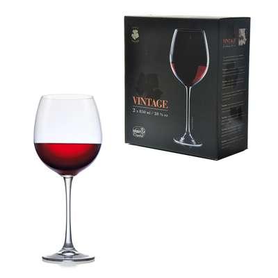 Набор бокалов для вина Bohemia Vintage XXL 850 мл. (40602-850)