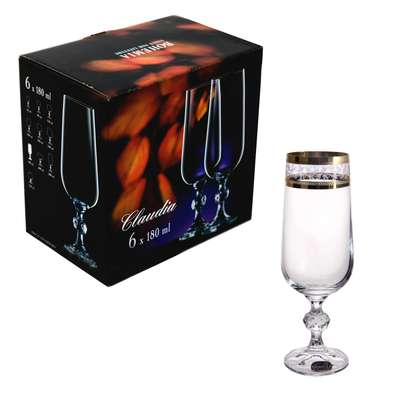 Набор бокалов для шампанского Bohemia Claudia 180 мл. (40149-43081-180)