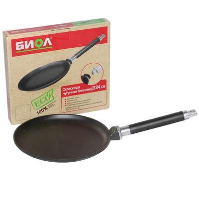 Сковорода чугунная для блинов Биол 22 см. (4221) 63637