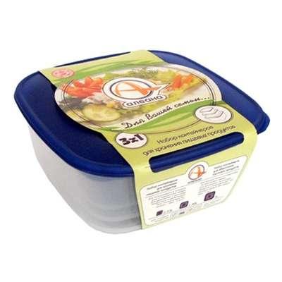 Набор контейнеров пищевых Алеана 3 в 1 (алн 167010)