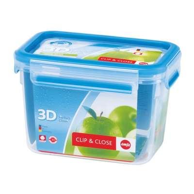 Прямоугольный пищевой контейнер Clip&Close 3D Emsa 1100 мл. (EM508541)