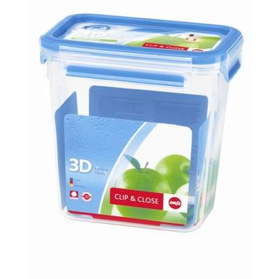 Прямоугольный пищевой контейнер Clip&Close 3D Emsa 1600 мл. (EM508543) 68766