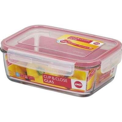 Прямоугольный стеклянный контейнер Clip&Close Emsa 390 мл. (EM508107)
