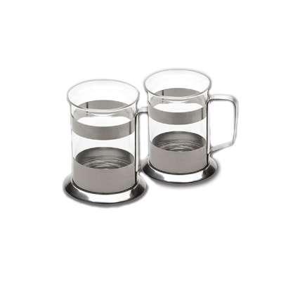 Набор из 2-х стеклянных чашек BergHOFF 0,2 л. (1106807)