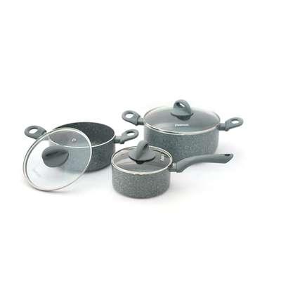 Набор посуды с индукционным дном Vulcano Fissman 6 пр. (AL-4862.6)