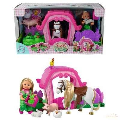 Кукольный набор Ева и ферма с аксессуарами Steffi & Evi Love (5733068)