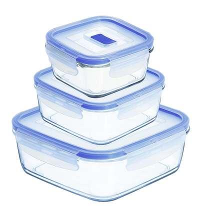 Набор салатников прямоугольных с крышкой Luminarc Pure Box (7686h)