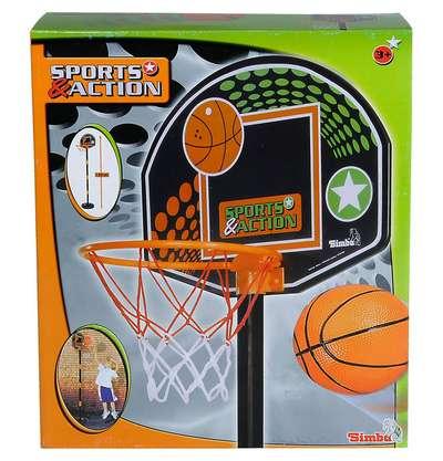 Игровой набор с корзиной Баскетбол Simba (7407609) 74317